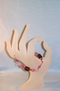 Cane Bead Bracelet-Purple