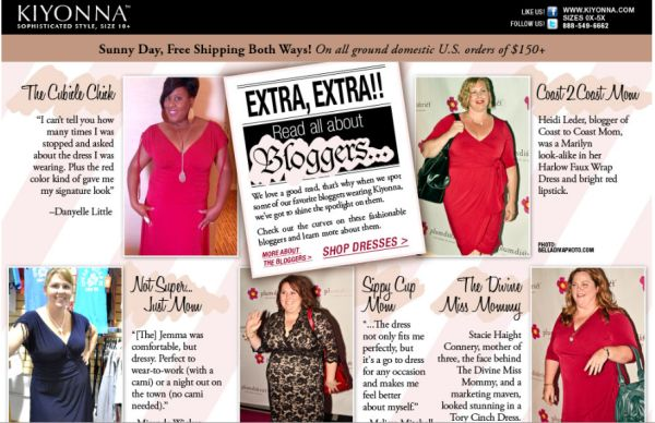 BlogLuv: The Cubicle Chick & Other Bloggers Feat. in Kiyonna Mass Email