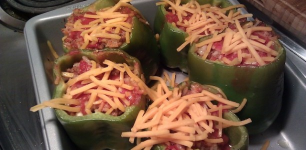 Cube Recipe Remix: Stuffed 'Belle' Peppers