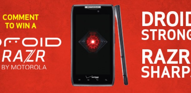 Cube Giveaway: Win a Motorola Droid RAZR from Verizon