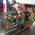 My cart during my major grocery shopping trek for our Thanksgiving meal