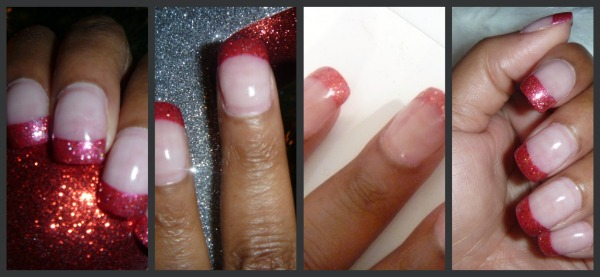 Christmas 'Cube Candy Cane' Nails: OPI Muppets & Cha-Ching Cherry