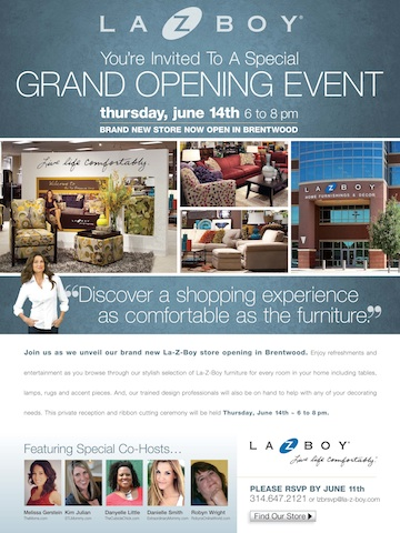 Join Me For the Grand Opening Celebration for La-Z-Boy in Brentwood: I'm Cohosting