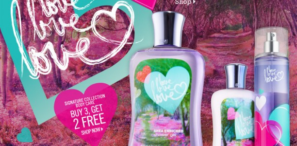 Bath &amp; Body Works Gift Card Giveaway: Love Love Love