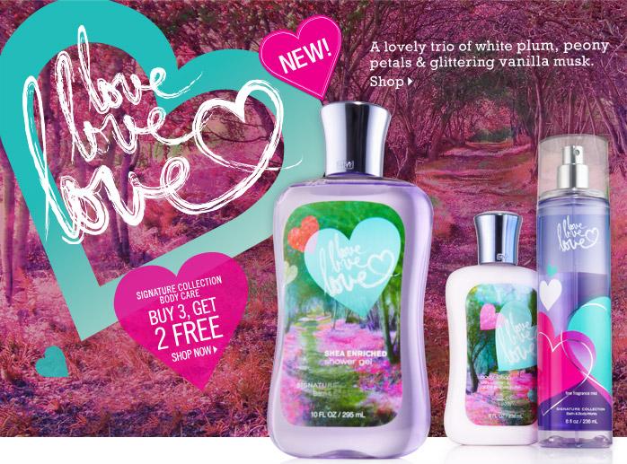 Bath & Body Works Gift Card Giveaway: Love Love Love