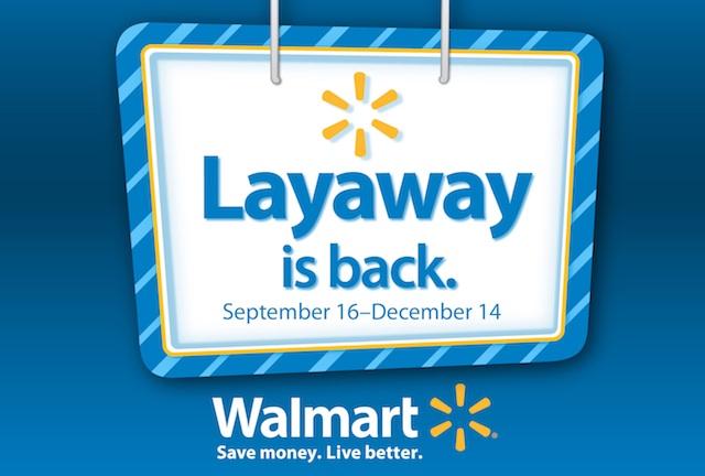 last week - Walmart Christmas Layaway