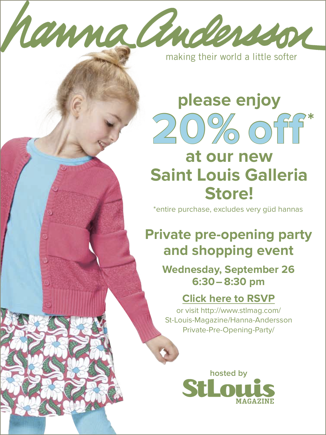 Join Me! Hanna Andersson Pre-Opening Party Shopping Event 9/26