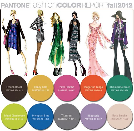 Haute Fall Colors: Pantone Fashion Color Report for Fall 2012