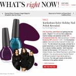 Nicole by OPI's New Kardashian Kolor Holiday Nail Polishes