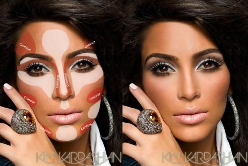 Kim kardashian contouring makeup guide pinterest 3 492x330