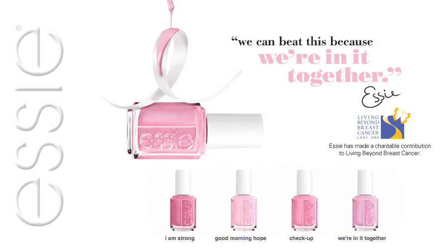 Celebrate Breast Cancer Awareness Month with Essie\'s Pink Collection