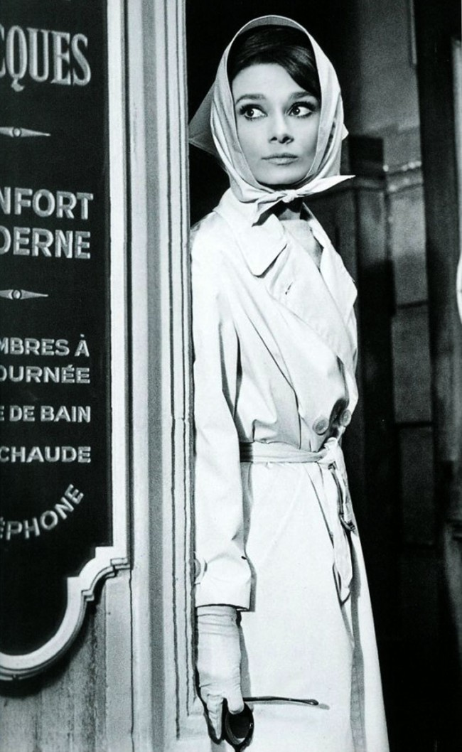 Audrey Hepburn Trench coat