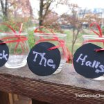 Small Holiday Chalkboard Vases