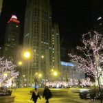 Chicago's Michigan Avenue: Nighttime Holiday Photos