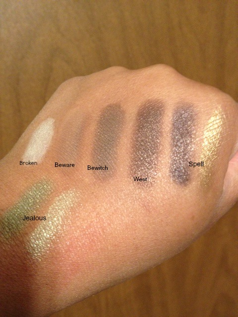 The Theodora Palette Swatches