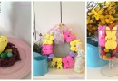 Easter Crafts with Peeps: Peep Wreath, Peeps on a Nest, and Peeps Candle Holder