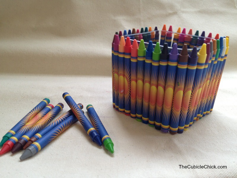 Teacher Appreciation Day DIY Crayon Vase Gift How-To