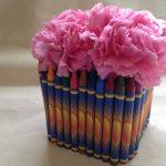 Teacher Appreciation Day DIY Crayon Vase Gift Idea