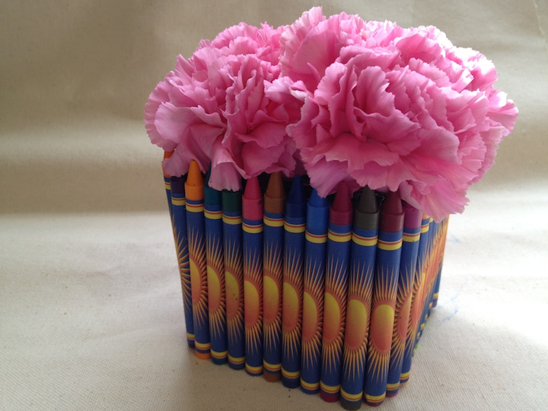 Teacher Appreciation Day DIY Crayon Vase Gift Idea
