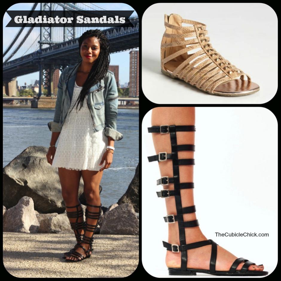 Knee Length Gladiator Heels