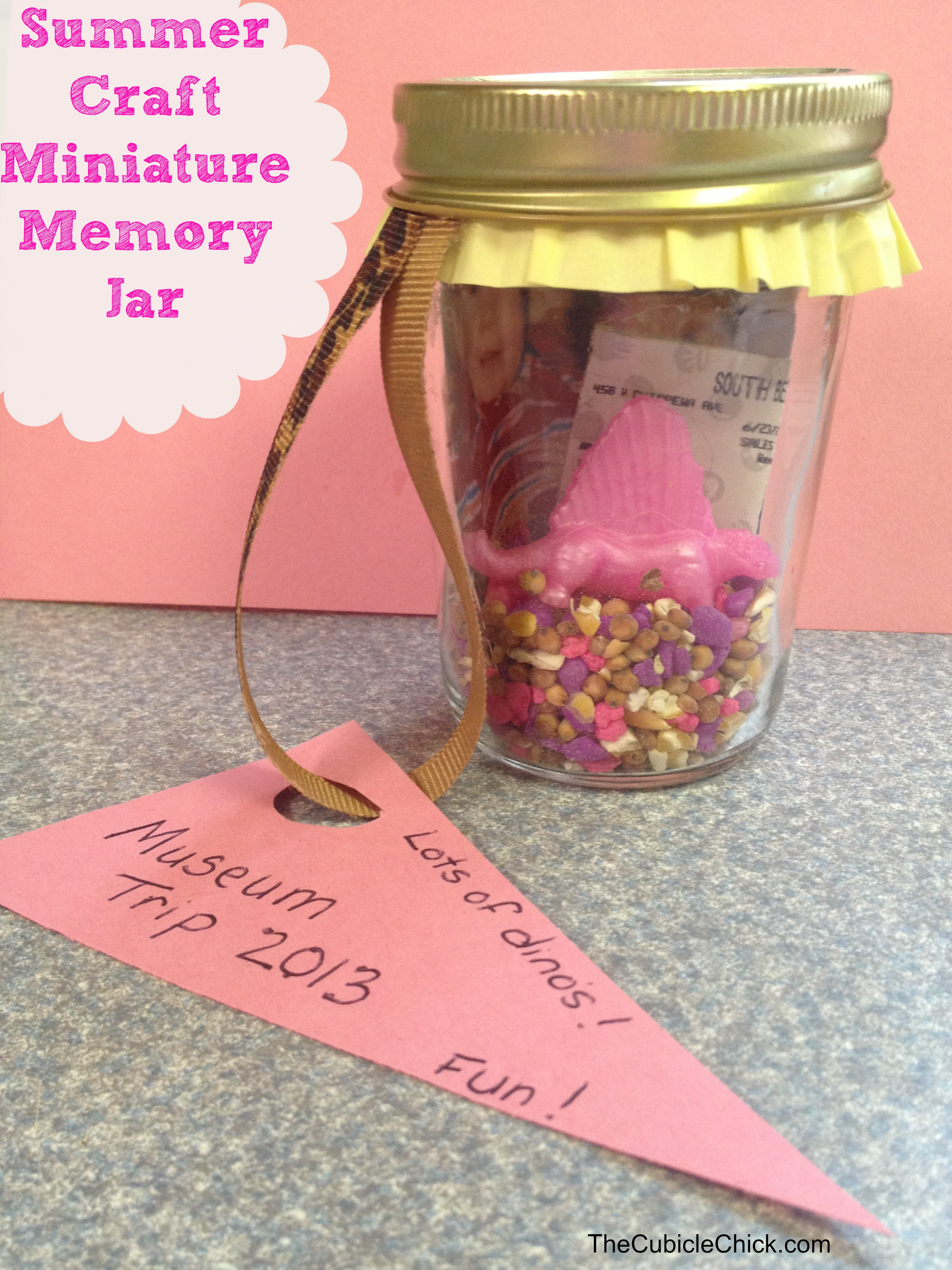 Summer Craft Miniature Memory Jar