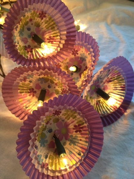 Dorm Room DIY: Cupcake Cup Twinkle Lights