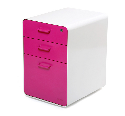 Honor breast cancer awareness month with pink office accessories - Pink office desk ...