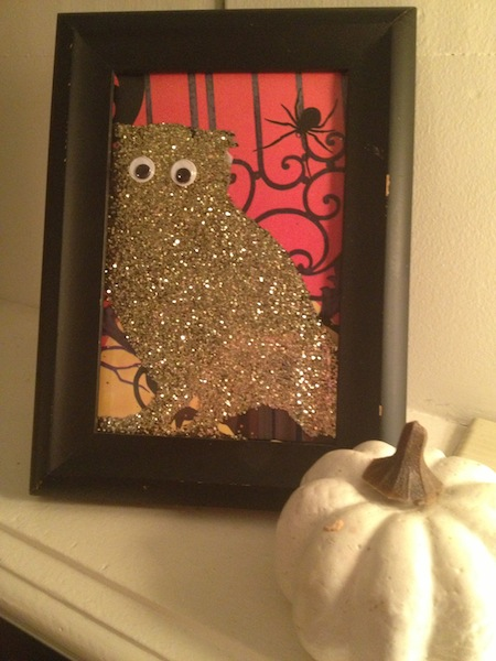 DIY Decor: Fabulous Fall Glitter Owl