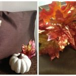 Dollar Tree DIY: Frugal Fall No Sew Pillow