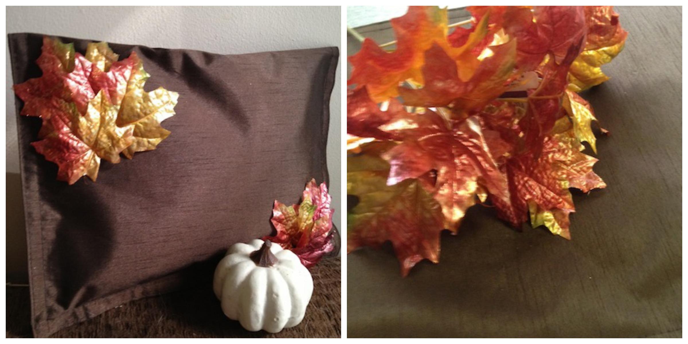 Dollar Tree DIY: Frugal Fall No Sew Pillow