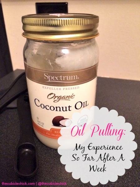 Oil Pulling My Experience So Far After A Week