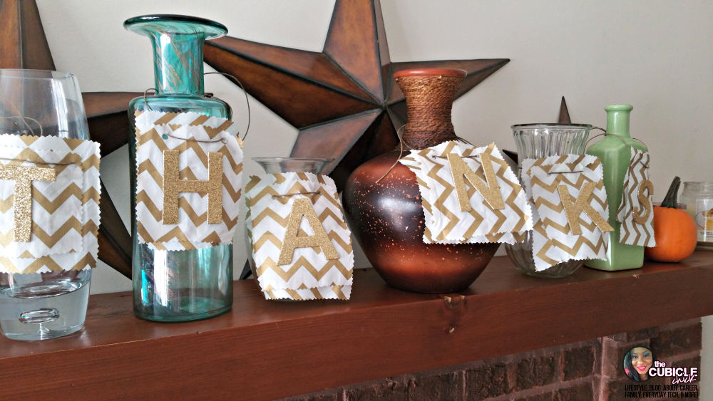 Thanks DIY Holiday Centerpiece or Mantle Decor