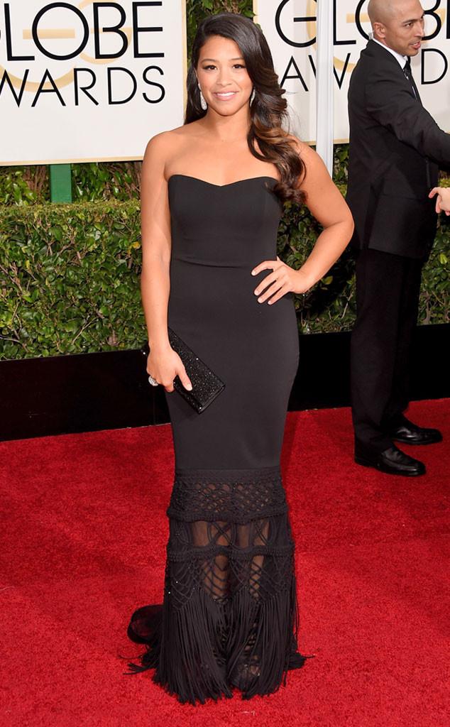Gina Rodriguez 2015 Golden Globes