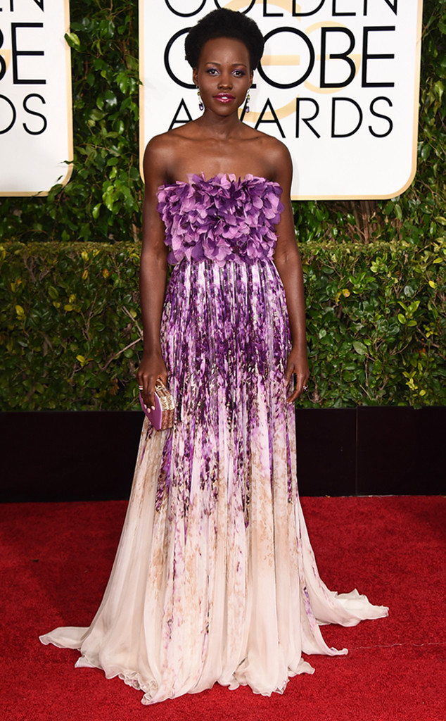 Lupita Nyong'o 2015 Golden Globes