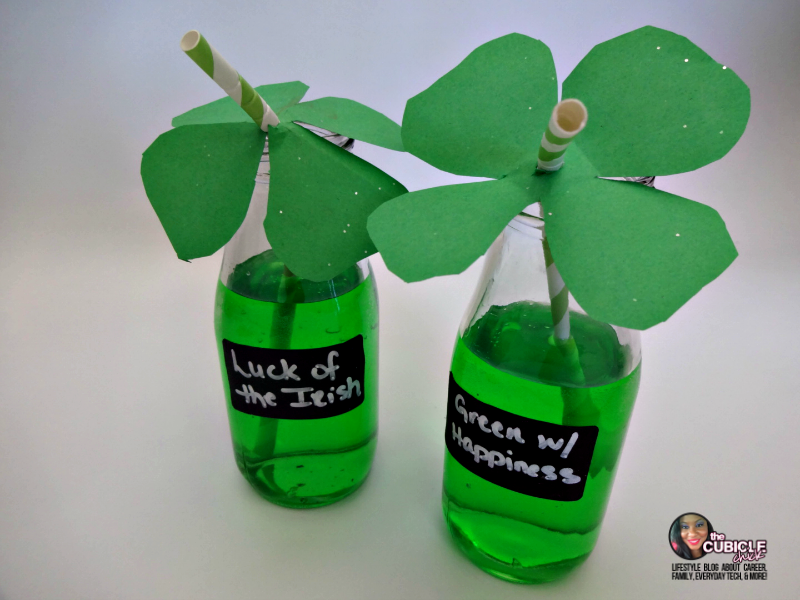 Saint Patrick's Day Four Leaf Clover Straw Toppers