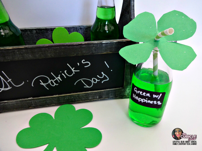 St Patrick's Day Four Leaf Clover Straw Toppers