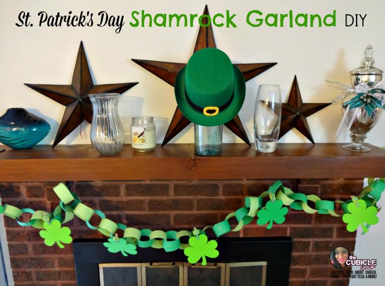 St. Patrick's Day Shamrock Garland DIY