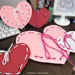 Homemade Valentine: Yarn and Paper Craft