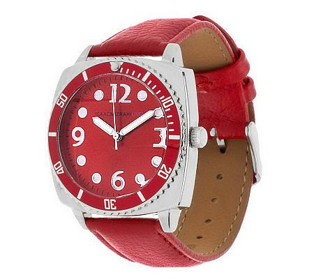Isaac Mizrahi Red Watch QVC