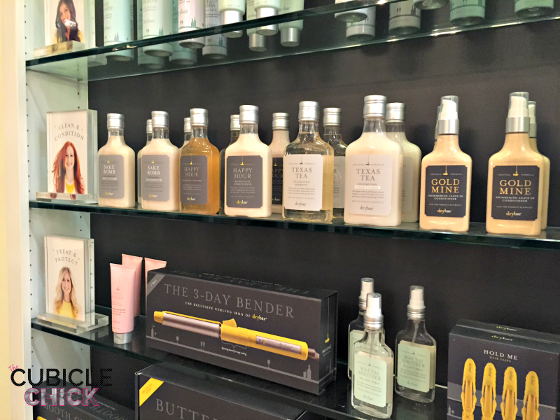 The DryBar store products