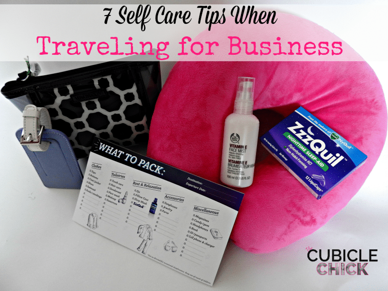 7 Self Care Tips When Traveling for Business