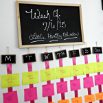 DIY Family Wall Schedule Calendar for the Home