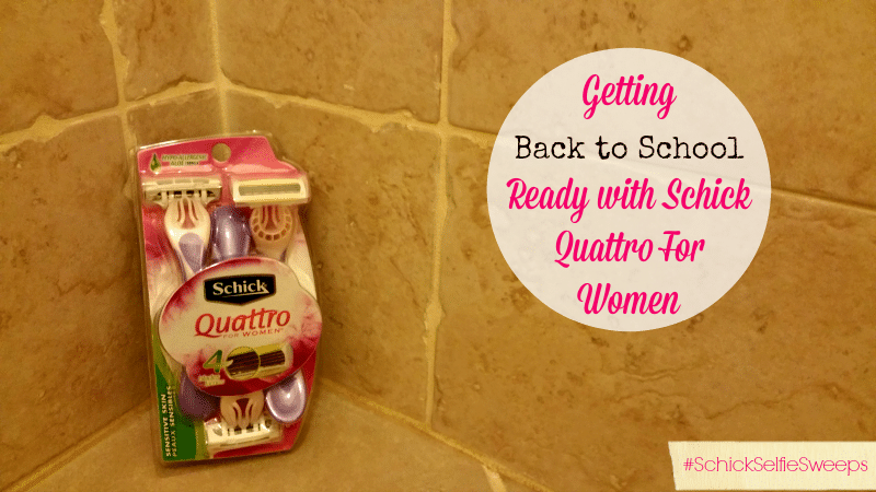 Getting Back to School Ready with Schick Quattro For Women