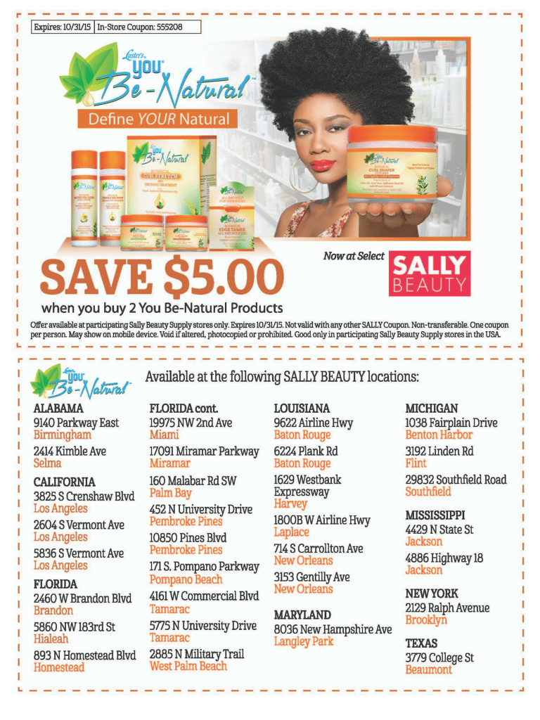 You Be-Natural Sally Beauty Coupon