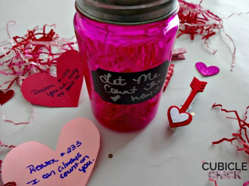 DIY Valentine Jars Let Me Count the Ways