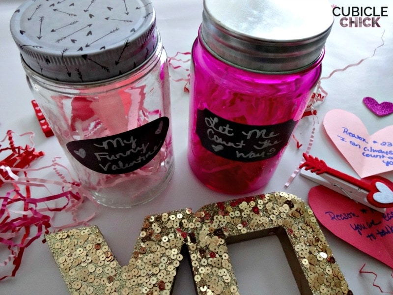 DIY Valentines Day Jars
