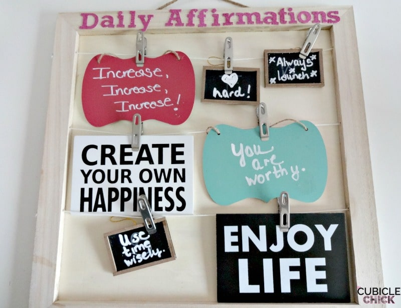 Daily Affirmations Board DIY