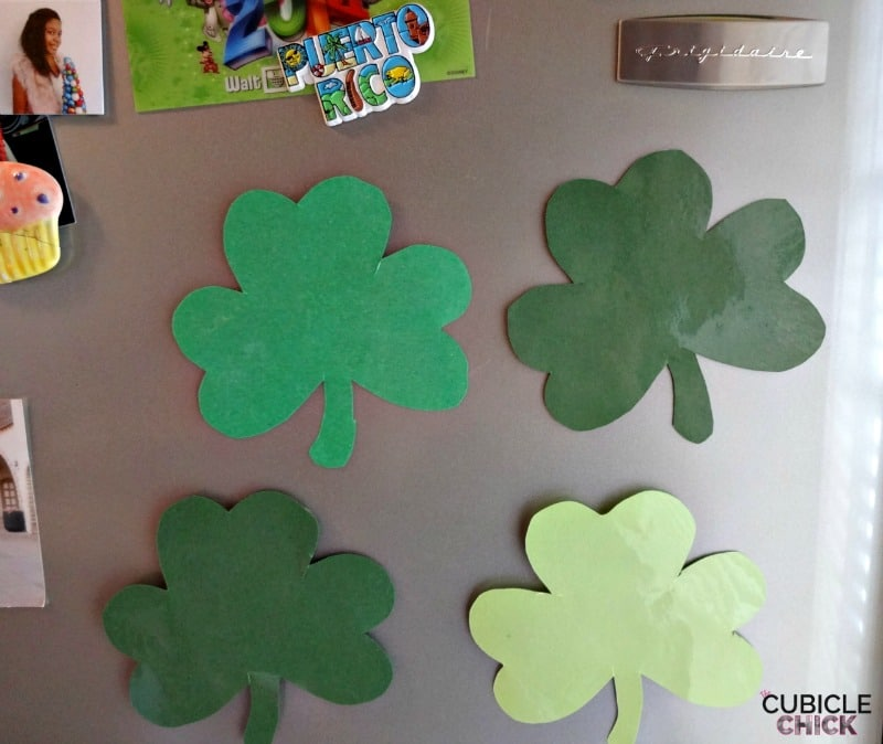 DIY Shamrock Magnets