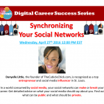 Join Me for the National Urban League Synchronizing Your Social Networks Webinar 4/27