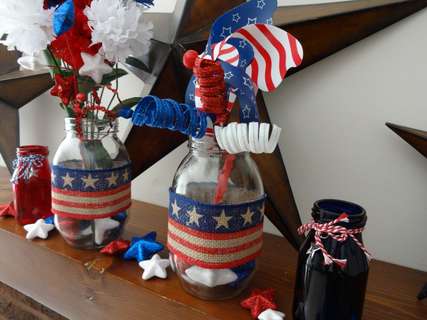 Fourth of July DIY: Decor and Centerpiece Jars
